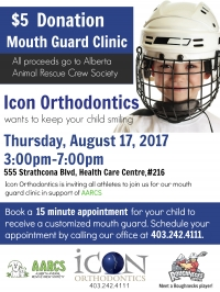 Join us for our Mouth Guard Clinic - August 17, 2017