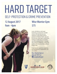 Hard Target Self Defense Seminar in Edmonton - Saturday August 12