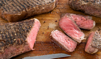 A special for the grown ups - Canadian AA striploin steak, $8.99 a pound this weekend at Glenburnie Grocery!