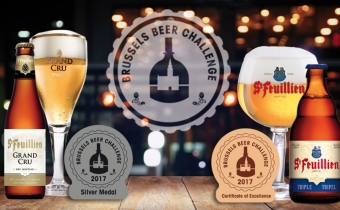 Brasserie St-Feuillien wins a Silver Medal and a Certificate of Excellence at the Brussels Beer Challenge 2017