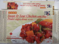 RECALL: Sweet & Sour Chicken with Rice