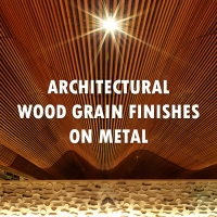 Architectural Wood Grain Finishes on Metal