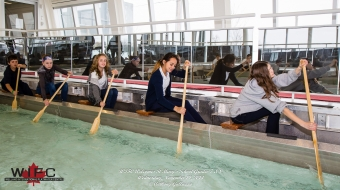 St. Mary Catholic Elementary School Youth Have Paddles at the Ready in the Welland Indoor Paddle Tank
