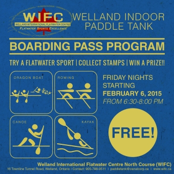 Boarding Pass Program: The Welland Indoor Paddle Tank Welcomes You