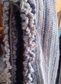 It's done - Crocheted Hooded Cowl