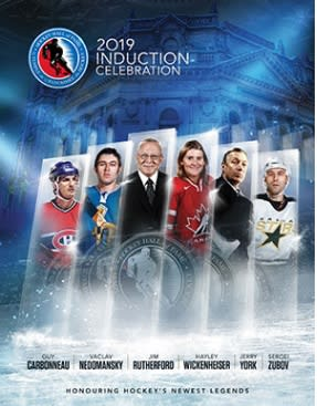 Hockey Hall of Fame Induction Weekend Nov 15 - 18, 2019