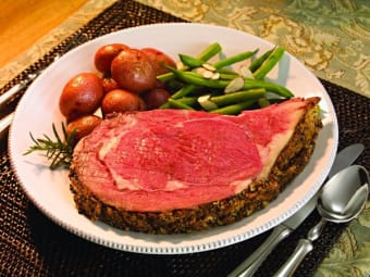 A non-traditional Thanksgiving feast - Canadian AA prime rib roast, $9.99 a pound this weekend at Glenburnie Grocery!
