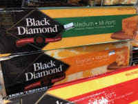 400g blocks of Black Diamond Cheese on sale for $4.99!  Five varieties to choose from!