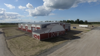 West Niagara Agricultural Centre from above