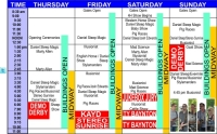 2015 Welland Fair Schedule