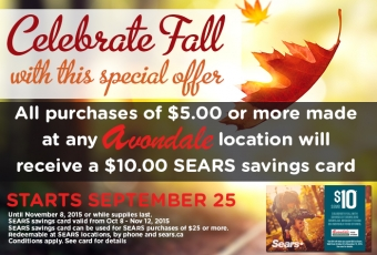 Avondale & Sears want YOU to Save!
