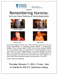 The Speakers Bureau Event — Remembering Huronia
