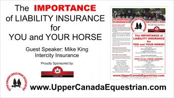 Upper Canada Equestrian Association presents Liability Insurance for You and Your Horse Information Session