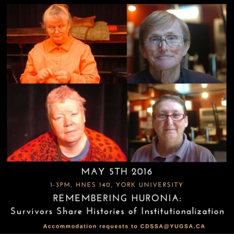 May 5th – Discussion with Huronia Survivors