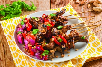 Fire up the barbecue with peanutty, Thai-inspired kebobs