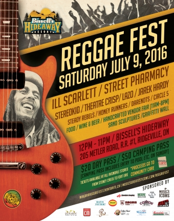 "Music's Greatest Icons is ""Playing it Forward"" with Niagara's first annual REGGAEFEST!"