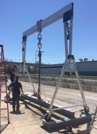 The 7.5 tonne Aluminum Gantry Crane is here!
