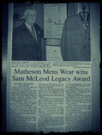 Jack Matheson Wins the Sam McLeod Legacy Award