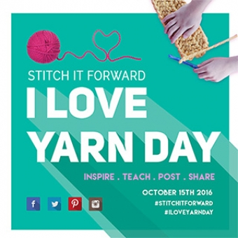 #Stitchitforward October 15th for I Love Yarn Day