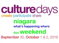 Culture Days in Niagara - What's Happening Where?