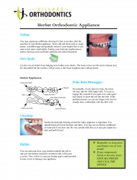 Herbst Orthodontic Appliance