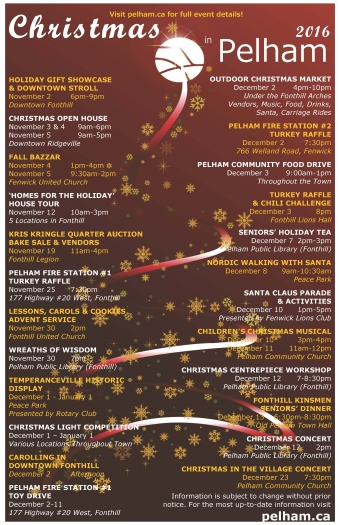 Christmas in Pelham 2016 Event Lineup