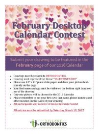 February Desktop Calendar Contest