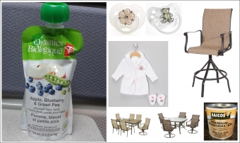 RECALLS: Bar Chairs, Baby Bathrobe, patio swivel chairs, pacifiers, baby food