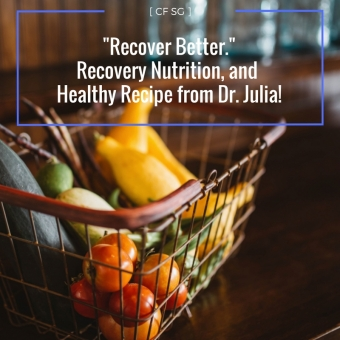 Recover Better - Recovery Nutrition and Healthy Recipe