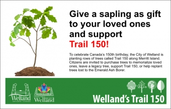 Welland Trail 150 Commemorative Trees