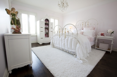 Clean White & Pinks- A Toronto bedroom fit for a city princess