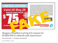 Fake Coupons Scam. Don't Be Fooled