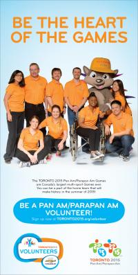 Come on Welland, Let's Be the Heart of the Games! Volunteer recruitment now open for the 2015 Pan Am/Parapan Am Games