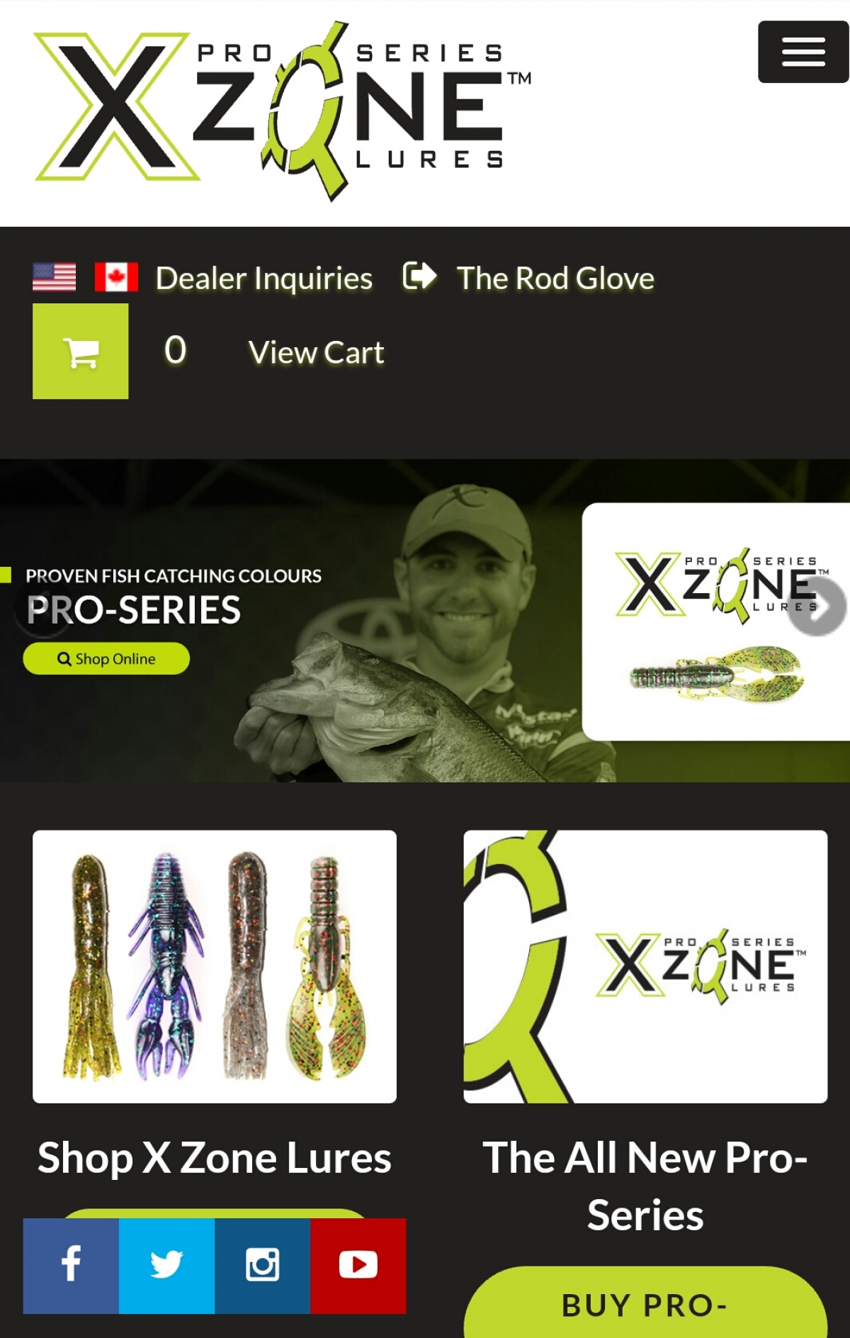 NEW X Zone Lures website is up and features 3 NEW X Zone Lure product lines