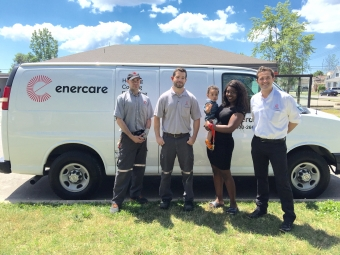 First Enercare Fresh Start Package delivered to a deserving Niagara family
