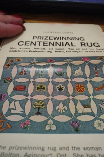 A Centennial Rug contest surfaces during Canada's sesquicentennial