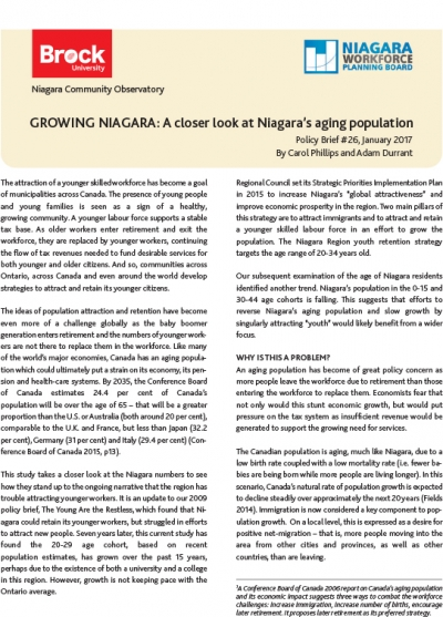 Region Building Series #1: Growing Niagara - A closer look at Niagara's aging population