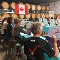 'Cocktails & Canvas' Painting Party at PondView!