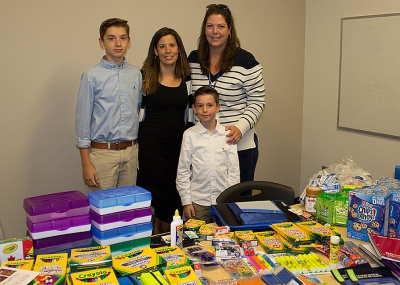 Women's and Babies' team donates school supplies to Community Care