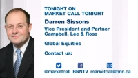 Darren Sissons on BNN Market Call Tonight for Friday, September 11, 2017