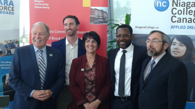 Niagara Workforce Planning Board, Niagara College and Brock's Niagara Community Observatory form research partnership