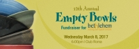 Empty Bowls Fundraiser | March 7, 2018