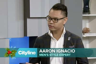 Clothing Specialist Aaron Ignacio offers up great ideas for warm winter accessories on Cityline