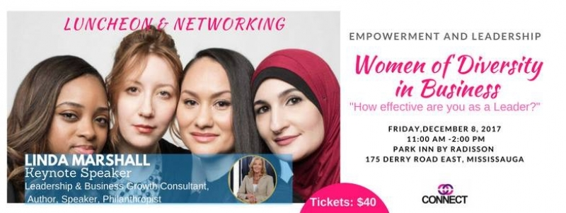 Keynote Speaker | Women of Diversity in Business | December 8, 2017