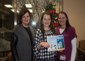 Welland girl artist behind Niagara Health's  2017 holiday card