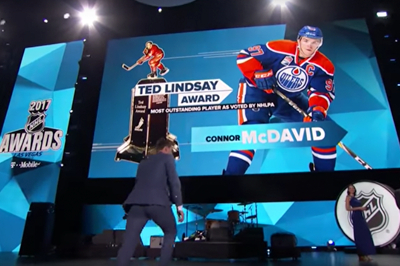 Congratulation to Connor McDavid on winning the NHL's 2017 Ted Lindsay Award