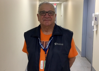 Volunteer giving back to hospital for care his wife received