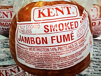 On special now at Glenburnie Grocery - Kent Smoked Hams, $3.99 a pound!