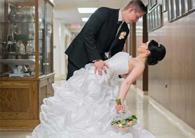 Nursing team rallies to grant a palliative patient's wish to see her daughter's wedding