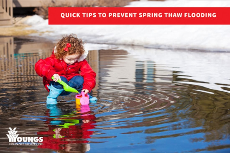 Quick Tips to Prevent Spring Thaw Flooding